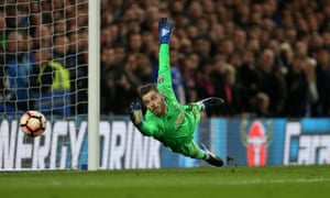 David De Gea is beaten.