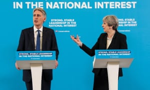 May and Philip Hammond, the chancellor, hold a joint press conference on Wednesday