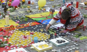 A tribute to victims of Tuesday's terrorist attacks in Brussels