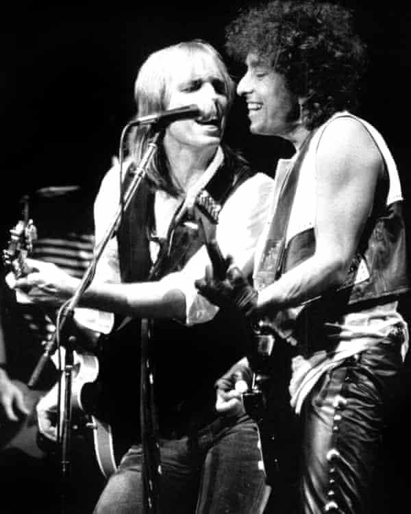 With the late Tom Petty, one of Dylan's many musical collaborators.