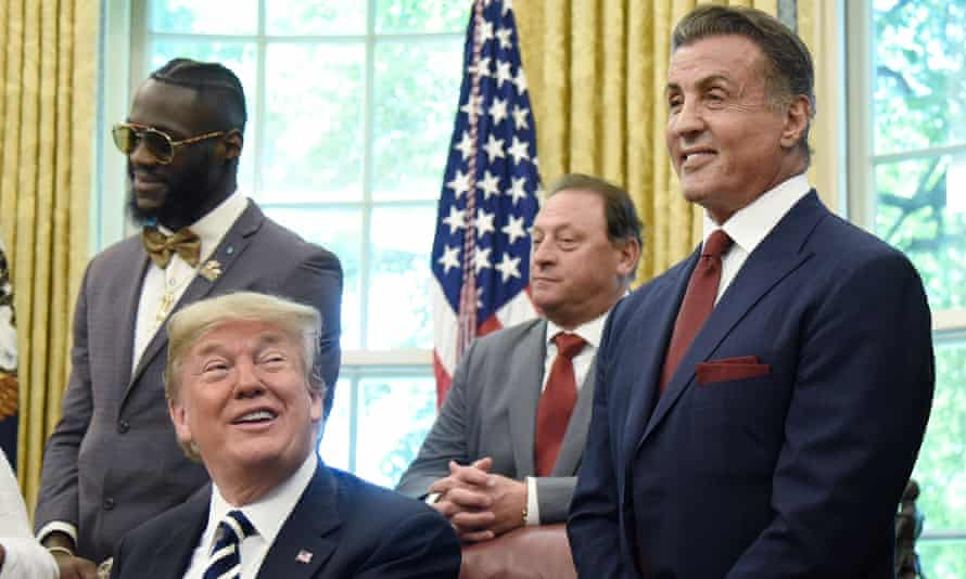 Donald Trump with Sylvester Stallone.