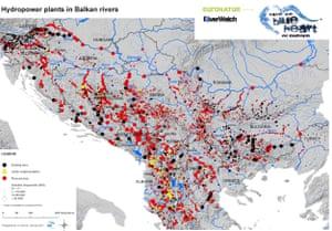 Hydropower plants in Balkan rivers