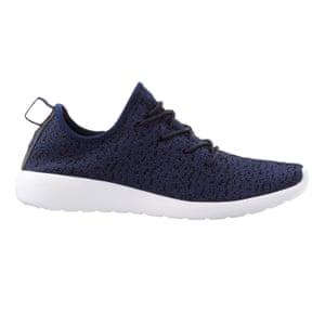 dark blue with white sole trainer, Matalan