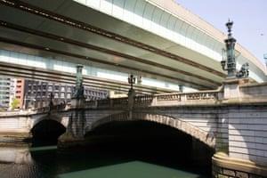 The beautiful old stone bridge Nihonbashi in Tokyo