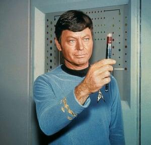 Deforest Kelley as Dr McCoy in Star Trek (1966).