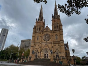 St Mary's Cathedral in Sydney is closed.