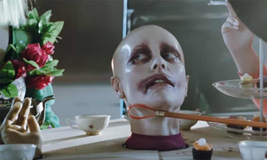 Karin Dreijer in a scene from the video to Fever Ray's To the Moon and Back
