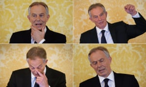 Former Prime Minister, Tony Blair speaks during a press conference at Admiralty House, where responding to the Chilcot report