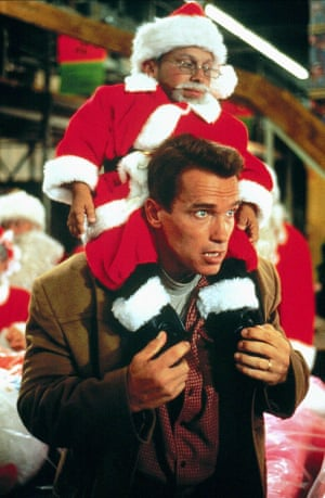 With Arnold Schwarzenegger in Jingle All The Way