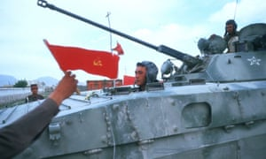 Soviet troops in Kabul in 1988