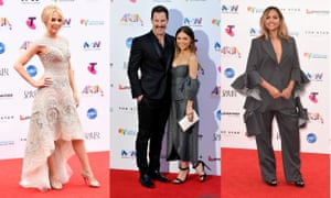 Kylie Minogue, Sasha Mielczarek and Sam Frost from The Bachelorette and Jessica Mauboy walk the Arias 2015 red carpet.