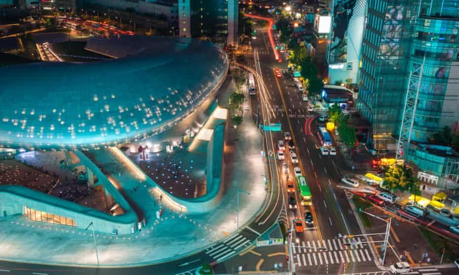 Dongdaemun Design Plaza is a new urban development in Seoul, South Korea, designed by Zaha Hadid.