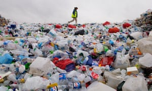 Plastic collected by Wastesavers community recycling group from households in Newport South Wales Gwent UK.