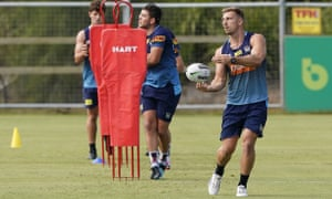 Bryce Cartwright during the Gold Coast Titans training session 6 May 2020.