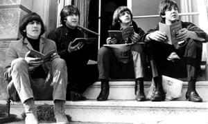 The Beatles during a break in filming Help!, 1965.