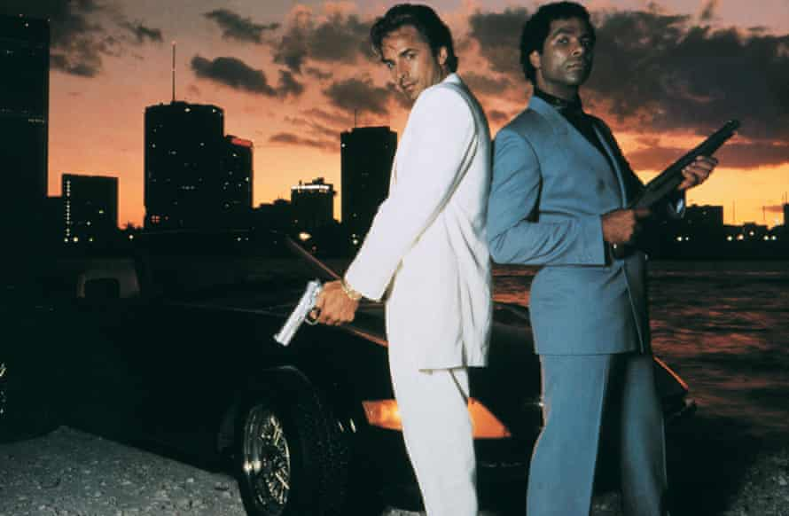 Crockett and Tubbs – Don Johnson (left) and Philip Michael Thomas – in Miami Vice.