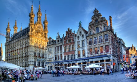 Grote Markt & Town Hall, leuven. belgium