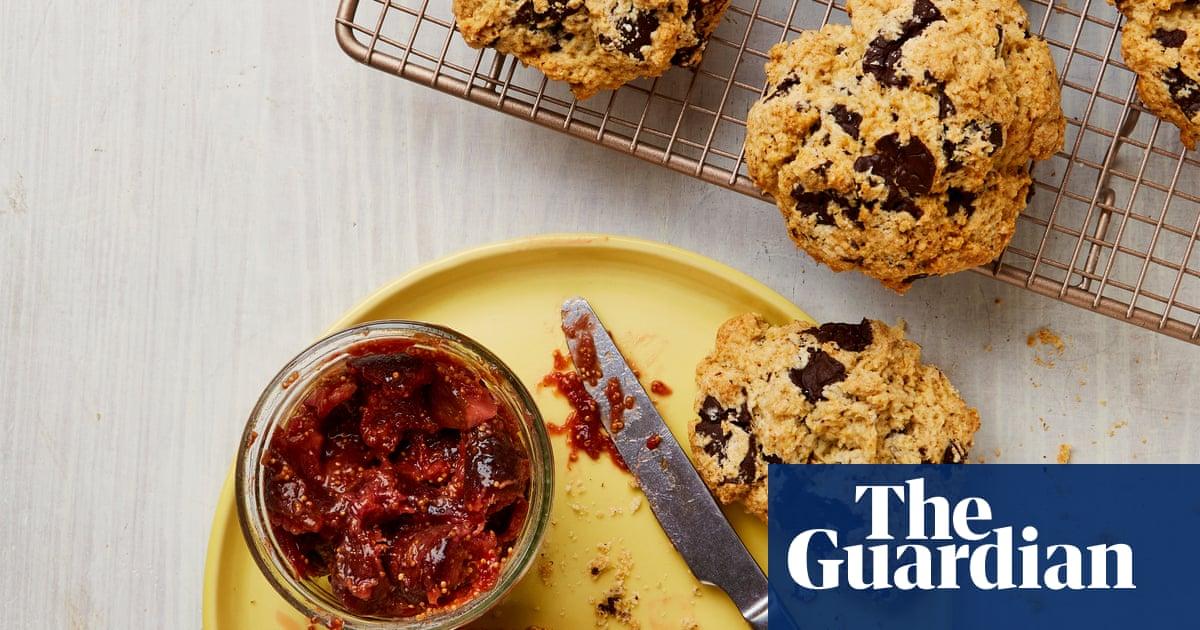 Meera Sodha's vegan recipe for chocolate scones and fig jam