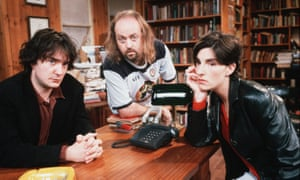 You haven't seen the customers yet … Dylan Moran, Bill Bailey and Tamsin Greig in Black Books.