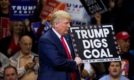 Fightback begins over Trump's 'illegal and irresponsible' clean power repeal