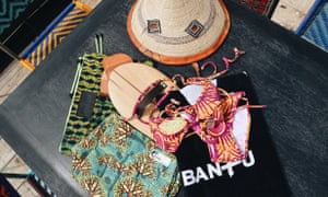 Taking the plunge: some of Bantu's accessories and beachwear.