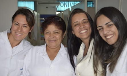 Maria Aparecida Duarte, second from left, with co-workers