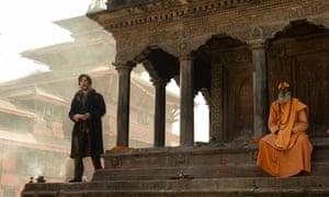 Cumberbatch on location in Kathmandu.