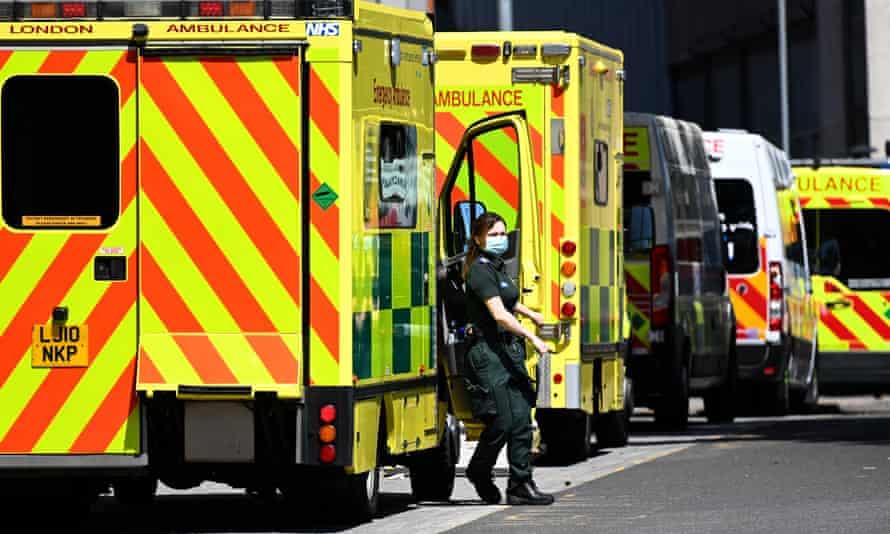 row of London ambulances