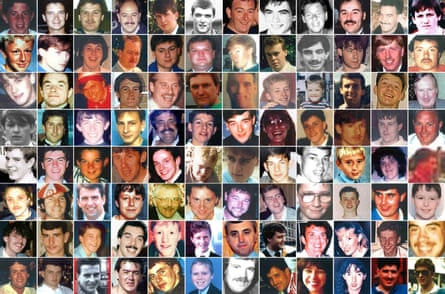 The 96 people killed in the Hillsborough disaster.
