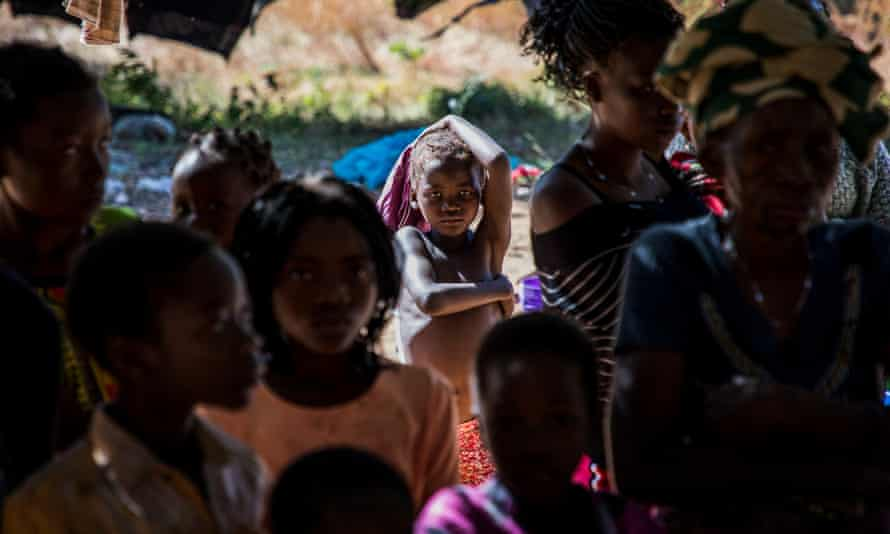 Children were among those fleeing the armed attacks in Cabo Delgado.