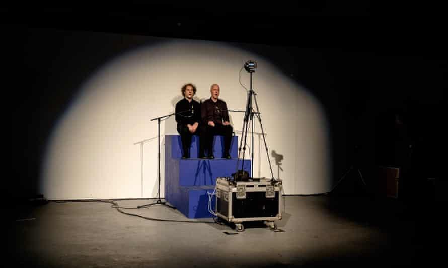 Serge Vuille and Christian Kestne performing Christian Kesten Zunge Lösen London Contemporary Music Festival