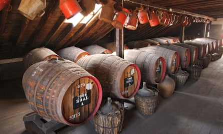 Roll out the barrel: Madeira's longevity is the result of its unusual production process – the wines are actually heated during ageing. Here the wine is matured in a loft of the Old Blandy Wine Lodge in Funchal Madeira.