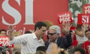 Pedro Sánchez and Felipe González