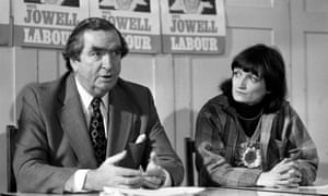 Denis Healey and Tessa Jowell in 1978.