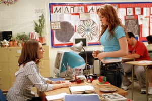 No nonsense … Fey with Lindsay Lohan in Mean Girls.
