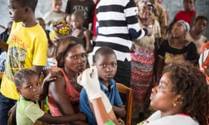 A yellow fever vaccination campaign targeting roughly 800,000 people gets underway in a school in Kinshasa, capital of the Democratic Republic of the Congo, last August
