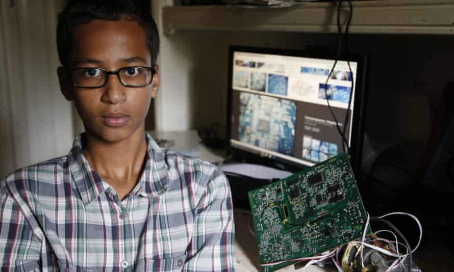 Irving MacArthur high school student Ahmed Mohamed, 14, was arrested and interrogated by Irving Police officers on Monday after bringing a homemade clock to school.