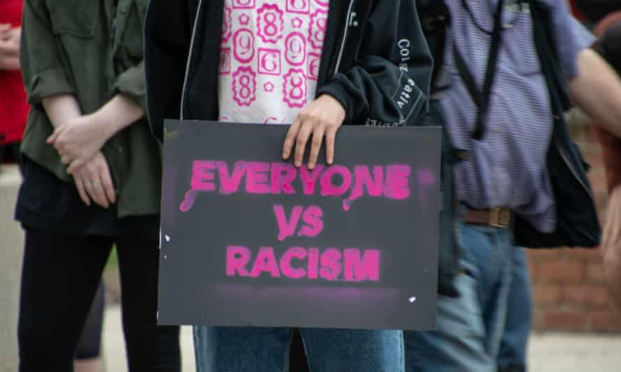 Detroit activists host a Stop Asian Hate rally.