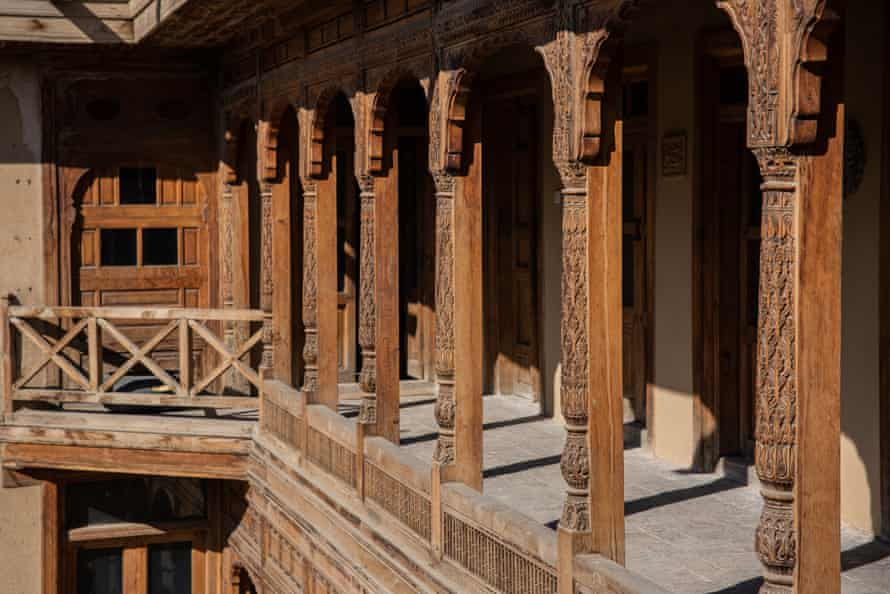 In Murad Khani, Kabul's old town, 150 houses have been restored and renovated in the original style with elaborate wood carvings.