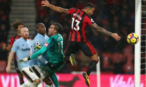 Callum Wilson converts Bournemouth's stoppage-time equaliser, which the referee decided did not involve a handball.