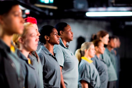 Members of the cast for Phyllida Lloyd's Julius Caesar production at the Donmar in London.