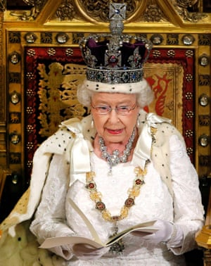 The Queen delivers her speech during the State Opening of Parliament in the House of Lords at the Palace of Westminster