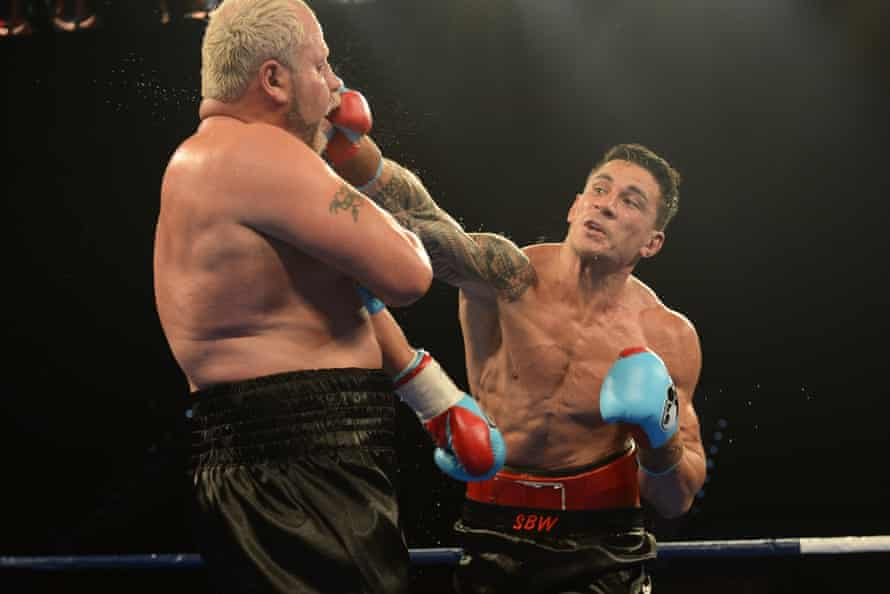 Sonny Bill Williams lands a right on Francois Botha during their WBA heavyweight fight in February 2013. Williams won, in a controversial decision, on points.