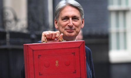 Chancellor Philip Hammond with his red briefcase