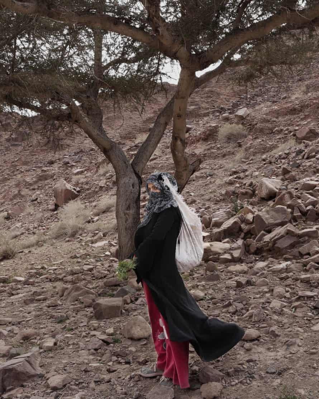 Umm Yasser on a trek in the mountains near Wadi Sahw, Egypt