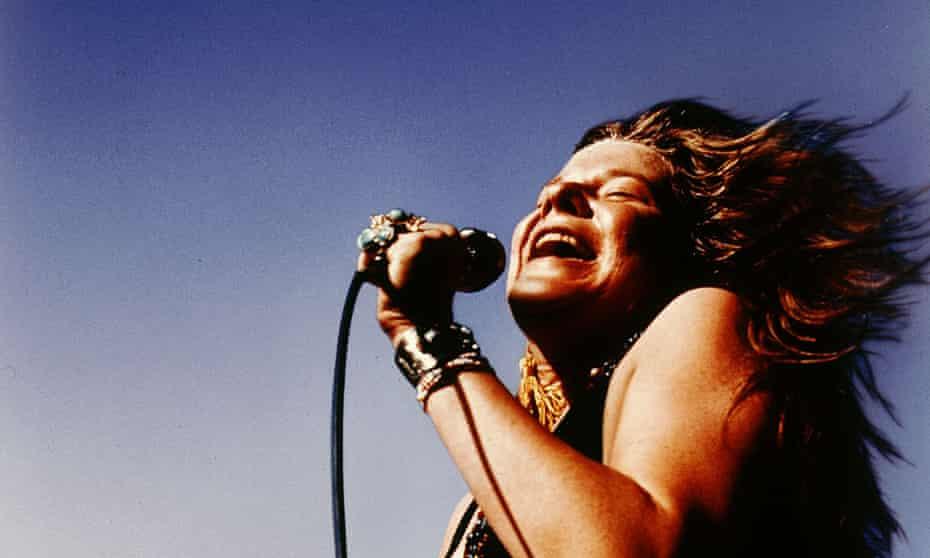 Janis Joplin in full flow