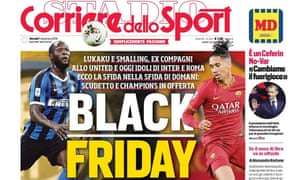 Thursday's Corriere dello Sport front page.