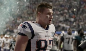 Rob Gronkowski walks off the field after his final game in the NFL, February's Super Bowl