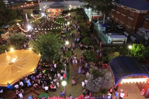 Aerial view of fringe central in Perth