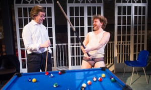 Alan Cox (RD Laing) and Oscar Pearce (David Cooper) in The Divided Laing by Patrick Marmion at the Arcola, London